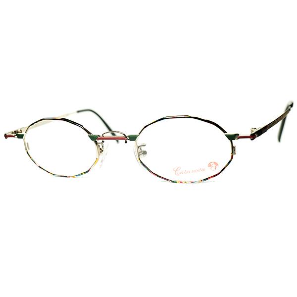 激レア多角シェイプxEARLY期 Hot Abstraction 1980s-90s Italy製 デッドストック Casanova カサノヴァ コンポジション 十二角形 DODECAGON ビンテージヴィンテージ 眼鏡メガネ a6470