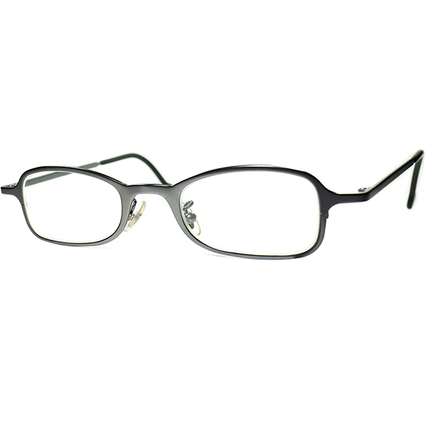 インテリジェンスSMARTルック1990s デッドストック ITALY製 l.a.Eyeworks アイワークス 短縦ウェリントン 合金製ガンメタグレー 眼鏡 ビンテージヴィンテージ 眼鏡メガネ a6903