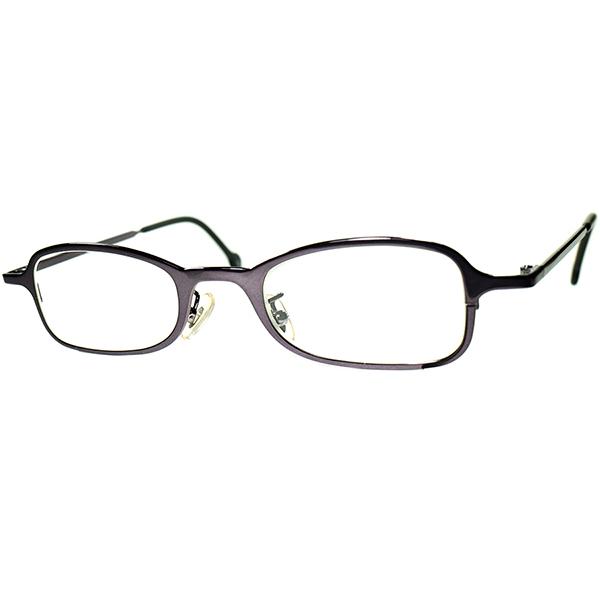 スタイリッシュRAREカラー1990s デッドストック ITALY製 l.a.Eyeworks アイワークス 短縦ウェリントン 合金製 POLISHED VIOLET ビンテージヴィンテージ 眼鏡メガネ a6905