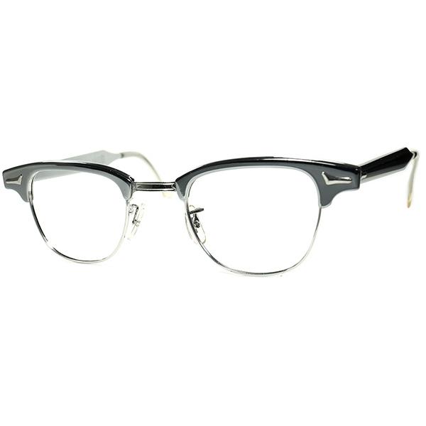 裏話マルコム愛用 ANOTHERブロータイプ 1960s USA製 デッドストック ART CRAFT CLUBMAN ミラーシルバーALUM x1/10 12KGF本金張り ビンテージヴィンテージ 眼鏡メガネ a7042