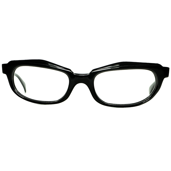 鋭角オールドモード世界観 激烈レア個体1960s AUSTRIA製 デッドストック 初期CHRISTIAN DIORクリスチャン ディオール GEOMETRIC セルフレーム size46/18 ビンテージヴィンテージ 眼鏡メガネ a7211
