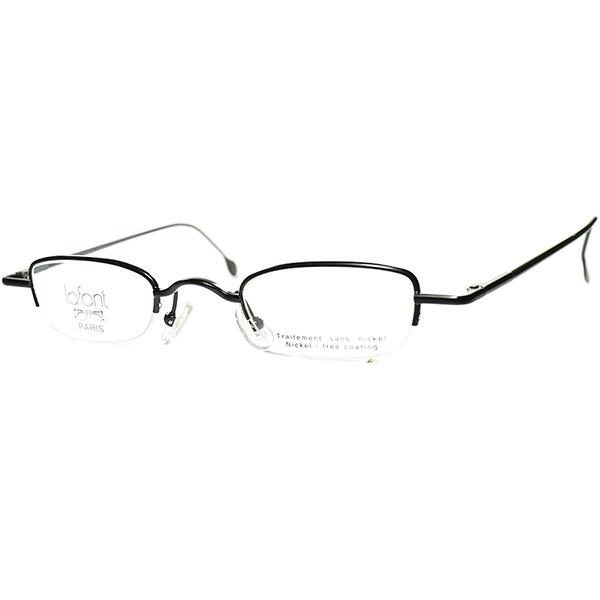 極上スーパーデイリーユース 1990sフランス製 デッドスッックFRAME FRANCE lafont ラフォン 極細リム 短縦x小径スクエアフレーム MATT BLACK  ビンテージヴィンテージ 眼鏡メガネ a7218