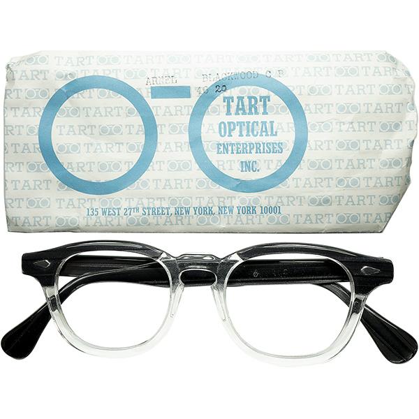 市場皆無RARE SIZE1950s-60sデッドストックUSA製オリジナル TART OPTICAL タートオプティカル TART ARNELタート アーネル size46/20 BLACKWOOD ビンテージヴィンテージ 眼鏡メガネ a7247