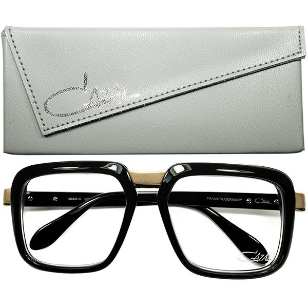 ストリートカルチャー史 最重要アイテム 最高ランクCASE付デッドストック1980s オリジナル西ドイツ製 CAZAL カザール mod.616 BLACK size56/20 ビンテージヴィンテージ 眼鏡メガネ a7294