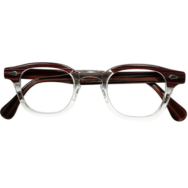 ジョニーデップ氏愛用 別格サイズ 1950s-60s デッドストック USA製 オリジナル TART OPTICAL タートオプティカル ARNEL タート アーネル size44/24 ビンテージヴィンテージ 眼鏡メガネ a7310