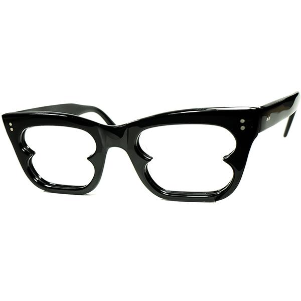 非日常的UNIQUEブリティッシュCLASSIC MODERN1960s デッドストック ENGLAND製 ウェリントン型リーディンググラス 老眼鏡 size46/20 BLACK ビンテージヴィンテージ 眼鏡メガネ a7368