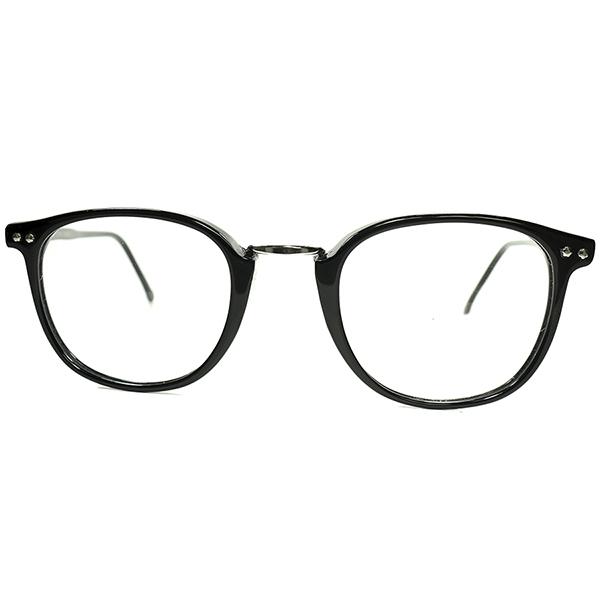 名作ベストセラー2000s オリジナル ITALY製 デッドストック CUTLER AND GROSS カトラー アンド グロス 2POINT STYLE ウェリントン BLACK ビンテージヴィンテージ 眼鏡メガネ a7458