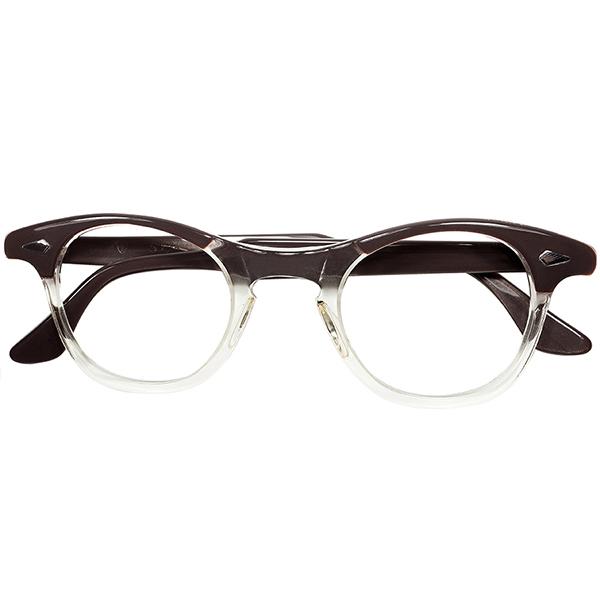 ONLY VINTAGE 未復刻色 1950s-60s デッドストック USA製 オリジナル TART OPTICAL タートオプティカル タート LEADING LIZ FOX型 KEYHOLE ウェリント ンsize44/24 ビンテージヴィンテージ 眼鏡メガネ a7515