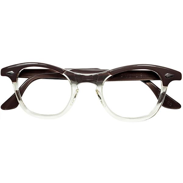 ゴールデンエイジ空気感 1950s-60s デッドストック USA製オリジナル TART OPTICAL タートオプティカル タート LEADING LIZ FOX型 KEYHOLE ウェリントン size44/22 ビンテージヴィンテージ 眼鏡メガネ a7516
