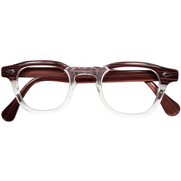 ジョニーデップ氏愛用 別格サイズ 1950s-60s デッド USA製 オリジナル TART OPTICAL タートオプティカル ARNEL タート アーネル size44/24 ビンテージヴィンテージ 眼鏡メガネ a7534
