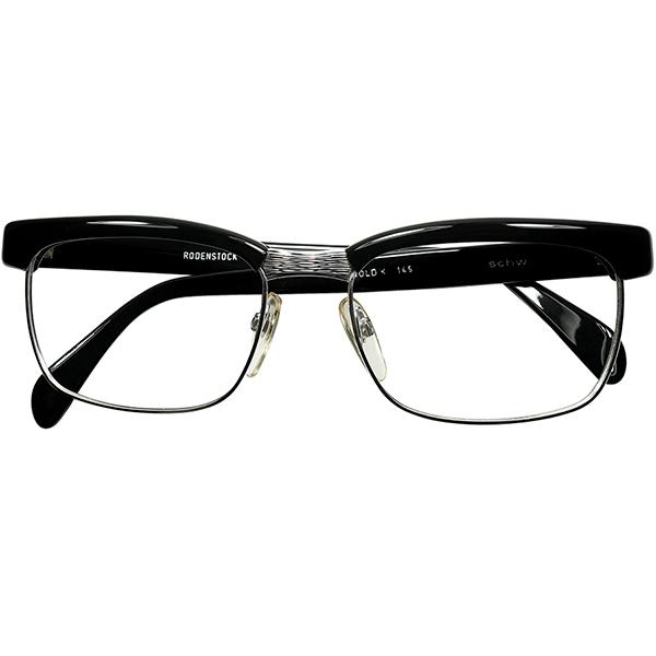 当時ベストセラー銘品1960s-70sデッドストック 西ドイツ製オリジナル RODENSTOCK ローデンストック 超美品再入荷品質至上 ARNOLD アーノルド 1 20 10K金張 BLACK 眼鏡#160;メガネ a7769 ファッション通販 size56 ビンテージ#160;ヴィンテージ 18