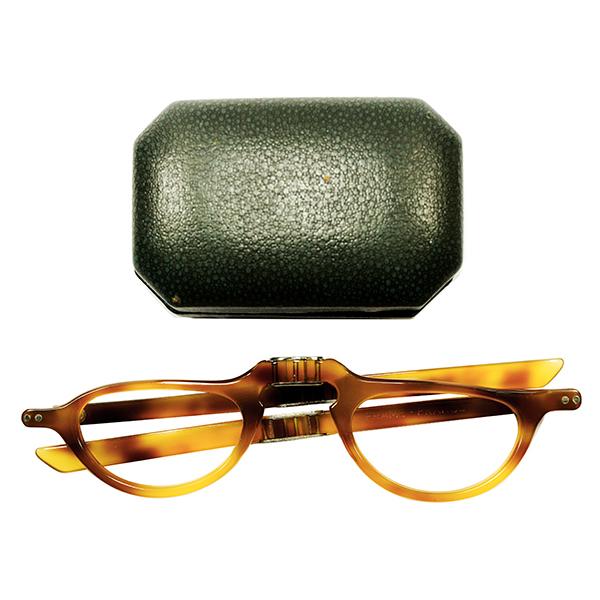 左右非対称 CASE付デッドストック GOOD SIZE 1950s FRAME FRANCE フランス製 MADE IN FRANCE 1/2 EYE FOLDING ハーフアイ リーディンググラス ヴィンテージ メガネ 眼鏡 アンティーク A2560