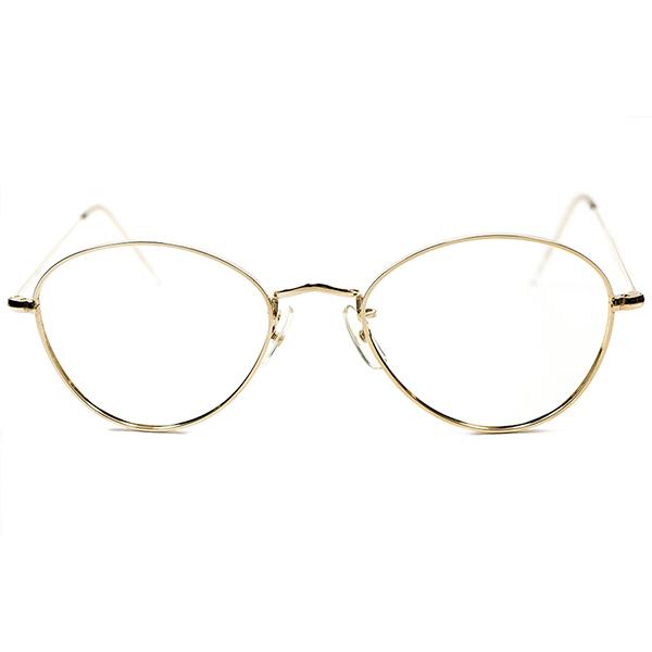 上級BRITISH CLASSIC 1960s-1970s 英国製 MADE IN ENGLAND アルガ ALGHA パント型ラウンド 本金張12KTGF size50/20 ヴィンテージ メガネ 丸眼鏡 イギリス UK A2576