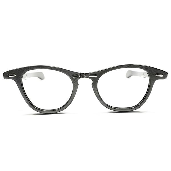 超GEEKゾーン GOODSIZE デッドストック 1950s-1960s USA製 MADE IN USA TART OPTICAL LIZ STYLE同型 折畳式ウェリントン ヴィンテージ メガネ 眼鏡 A2894
