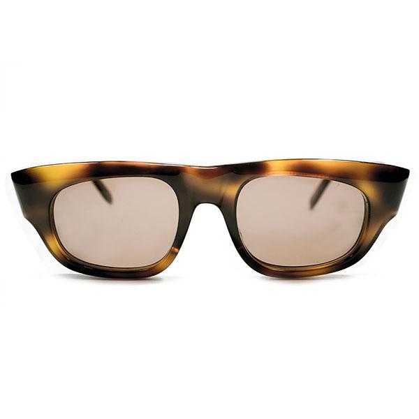 ミニマルMODEデザイン デッドストック 1960s 英国製 MADE IN ENGLAND UPPER BRIDGE ウェリントン型サングラス ビンテージヴィンテージ 眼鏡メガネ A3058