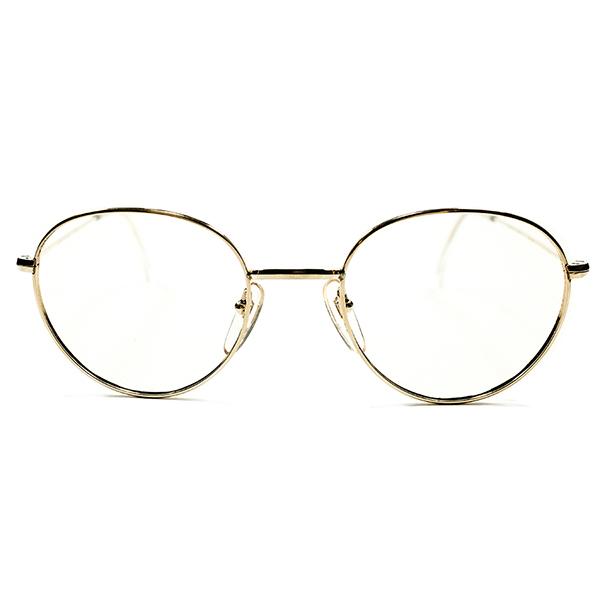 高精度 フランス老舗 MOREL 1950s-1960s フランス製 MADE IN FRANCE 本金張GOLD ボストンラウンド 48/20 ヴィンテージ メガネ 丸眼鏡 A3223