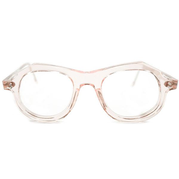 前衛的 ART SHAPE デッドストック 1950s フランス製 MADE IN FRANCE アッパーブリッジ HANDMADE ハンドメイドパント FRESH PINK ビンテージヴィンテージ 眼鏡メガネ A3626