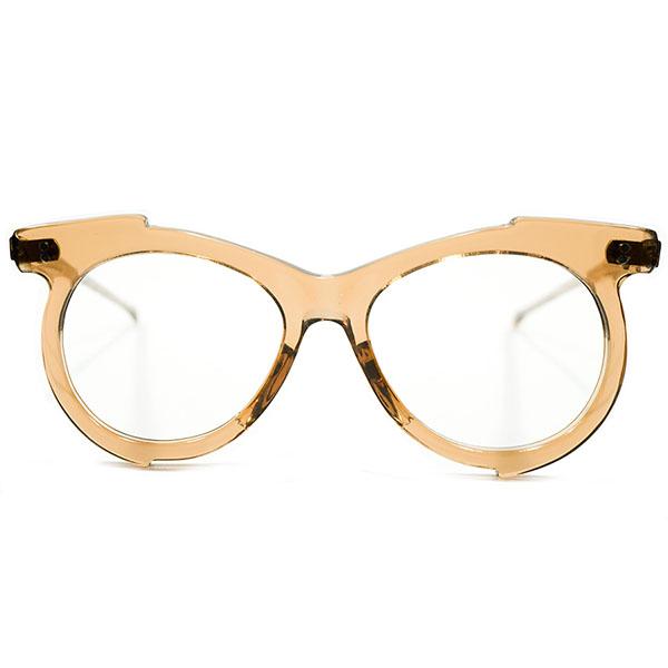 アバンギャルド ARTピース 1950s FRAME FRANCE フレーム フランス フランス製 MADE IN FRANCE 薄型 FLATフロント 紅茶色 変形シェイプパント PANTO ビンテージヴィンテージ 眼鏡メガネ A3632