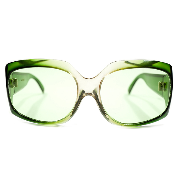 MAP刻印入正真正銘 1960s-1970sオリジナル デッドストック フランス製 MADE IN FRANCE マックスピティオン MAX PITTION AGREEN CRYSTAL FADE 極太 モダンフレーム オリジナルガラスレンズ入 ビンテージヴィンテージ 眼鏡メガネ サングラス A3747
