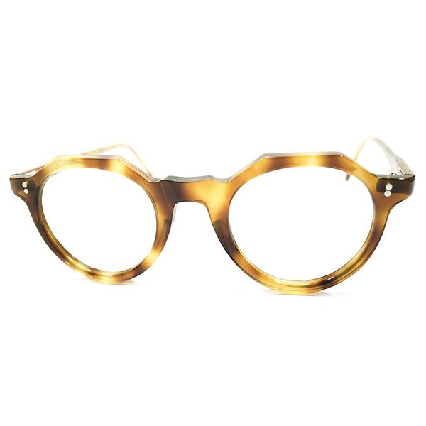 黄金期定番シェイプ デッドストック 1950s フランス製 MADE IN FRANCE オリジナル クラウンパント CROWN PANTO 鼈甲柄 ビンテージヴィンテージ 眼鏡メガネ GOOD SIZE A3898