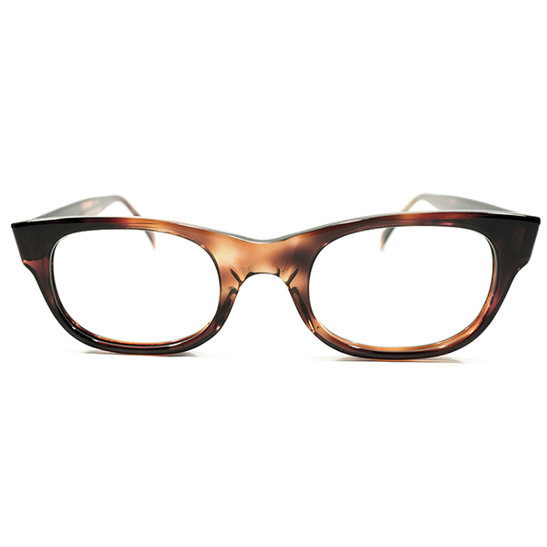 希少ミニマルモデル デッドストック 1960s アメリカ製 MADE IN USA アメリカンオプティカル AMERICAN OPTICAL AO NO HINGE 鼈甲柄 ウェリントン ヴィンテージ メガネ 眼鏡 46/22 A3912