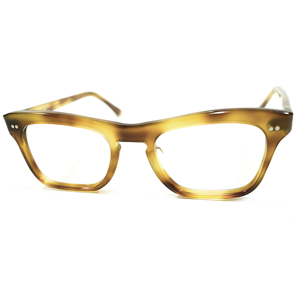 流線フォルム 1950s デッドストック フランス製 MADE IN FRANCE 2DOT 鼈甲柄 KEY HOLEブリッジ CLASSIC ウェリントン ビンテージヴィンテージ 眼鏡メガネ GOOD SIZE A3989