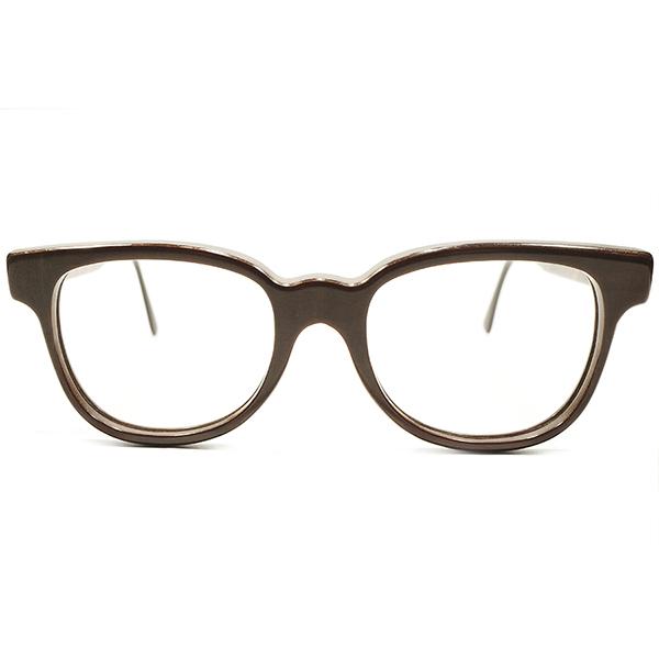 絶妙CRAFT感&ハイクオリティ デッドストック 1970s-1980s フランス製 MADE IN FRANCE BURNISHED REAL WOOD リアルウッド FRENCH WAYFARER ウェリントンヴィンテージ メガネ 眼鏡 A4178