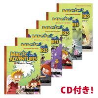 CD アクティビティページ付き 漫画形式で楽しく読める英語リーダー 送料無料 卓抜 CD付き 英語の多読にもおすすめ Magic Adventures 6冊セット オーバーのアイテム取扱☆ 2 Set Level Comic Graded Readers