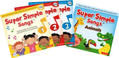 歌いやすい!スーパーシンプルソングズシリーズ 送料無料!【Super Simple Songs 第2版 1.2.3 + Animals CD Set】英語の歌 子ども英語 幼児英語 英会話 スーパーシンプルソング