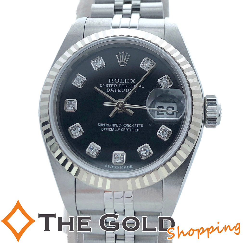 【中古】ロレックス ROLEX OH済 デイトジャスト 79174G K番 腕時計 レディース[女性用 ギフト プレゼント ご褒美 夏のボーナス ザ・ゴールド 決算SALE