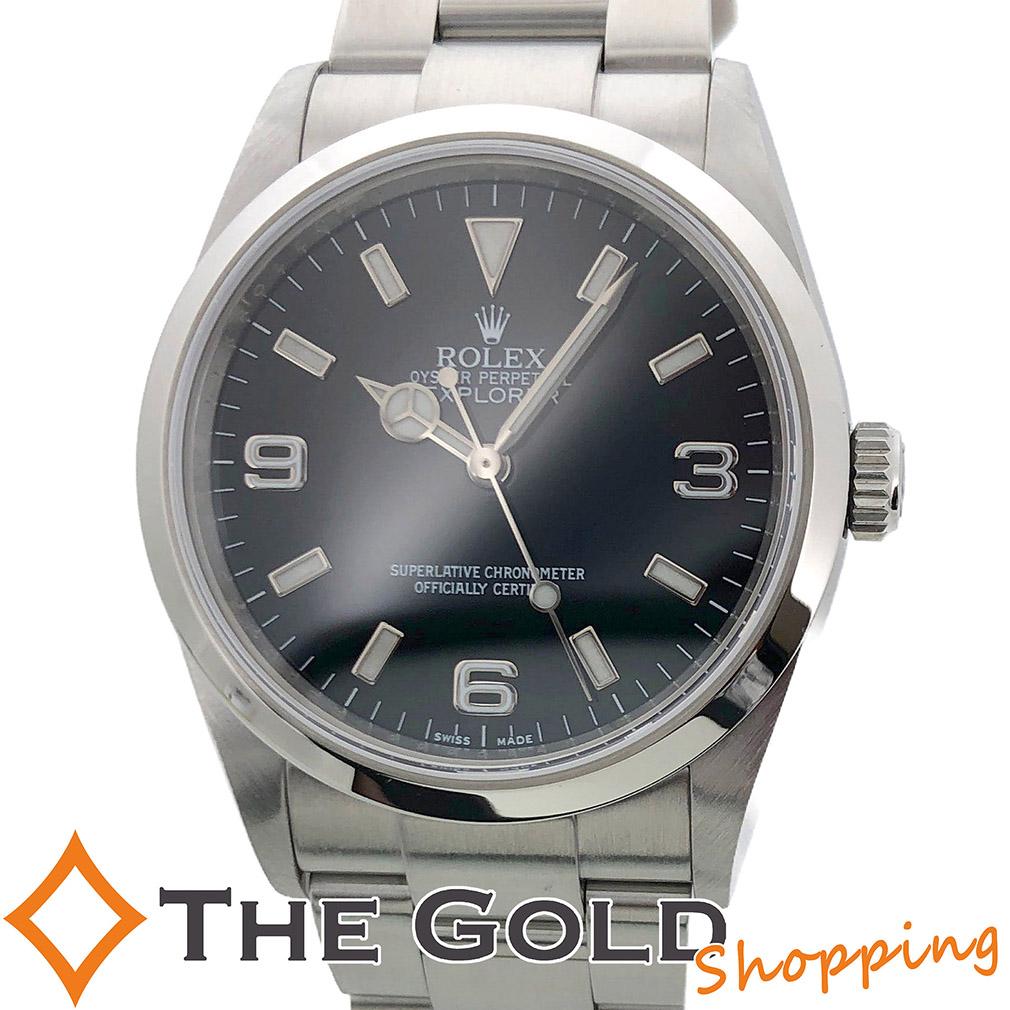 【中古】ロレックス ROLEX OH済 エクスプローラー1 114270 M番 国内保あり 2009年 腕時計 [メンズ 男性用] ギフト プレゼント ご褒美 夏のボーナス ザ・ゴールド 決算SALE