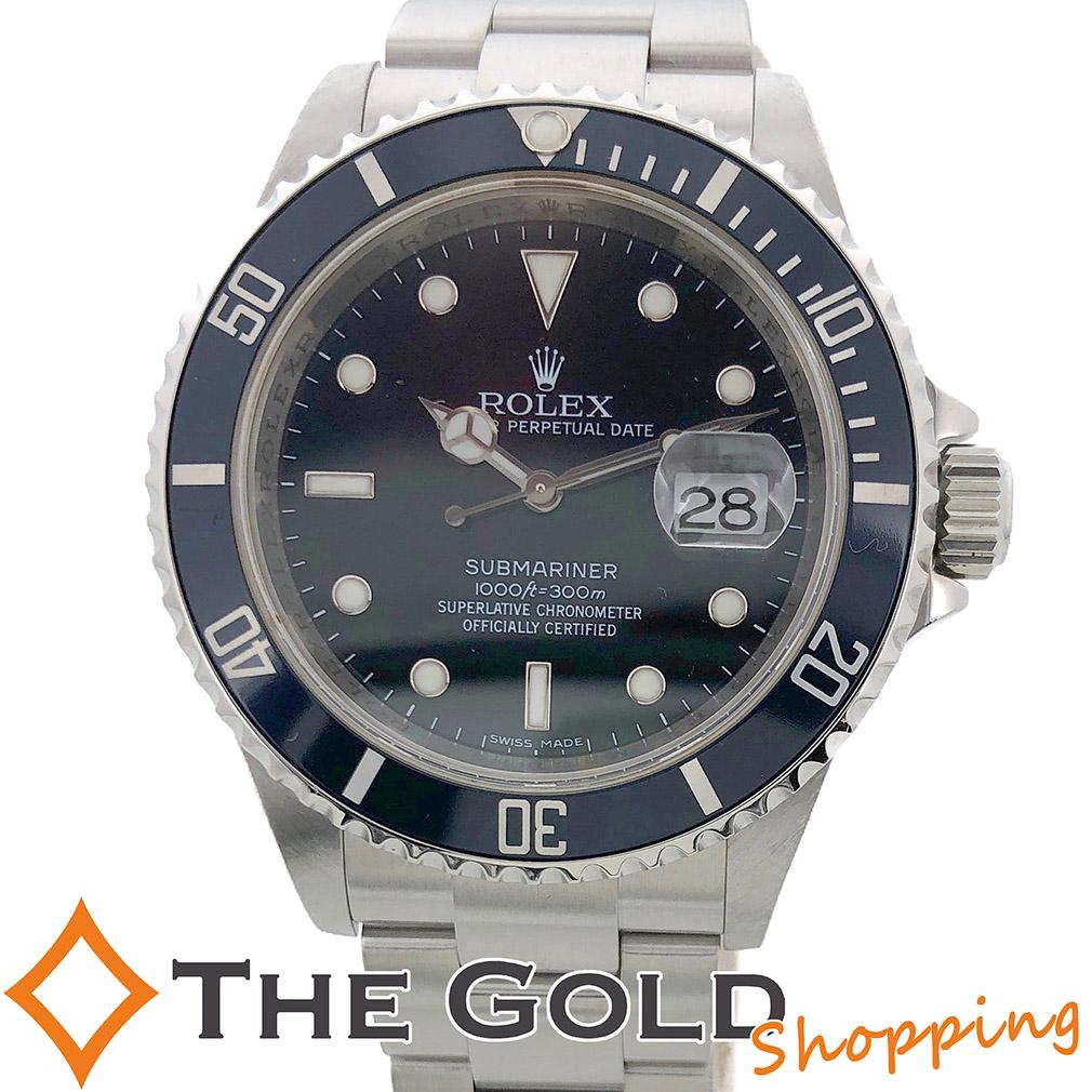 【中古】ロレックス ROLEX サブマリーナ 16610 M番 OH済 並行 2008年 サブマリーナー 16610 時計 腕時計 メンズ[男性用] 決算SALE