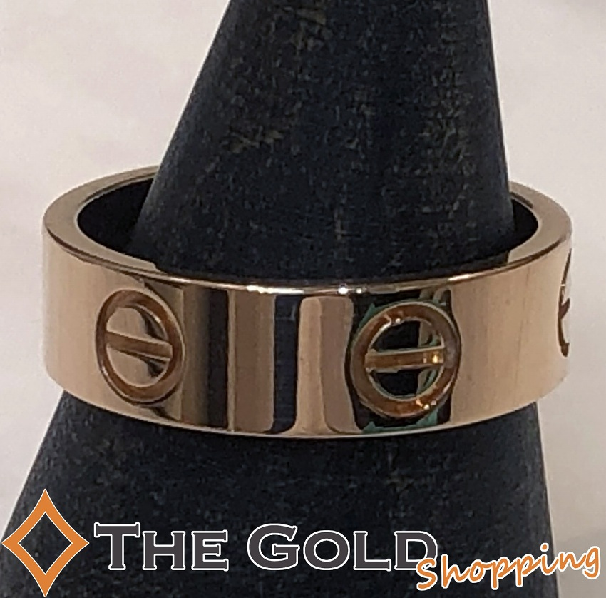 【中古】カルティエ Cartier ラブリング #52 750PG ピンクゴールド [ジュエリー アクセサリー 指輪]