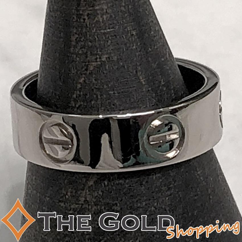 【中古】カルティエ Cartier ラブリング #52 仕上済 750WG ホワイトゴールド [ジュエリー アクセサリー 指輪]ギフト プレゼント ご褒美 夏のボーナス ザ・ゴールド