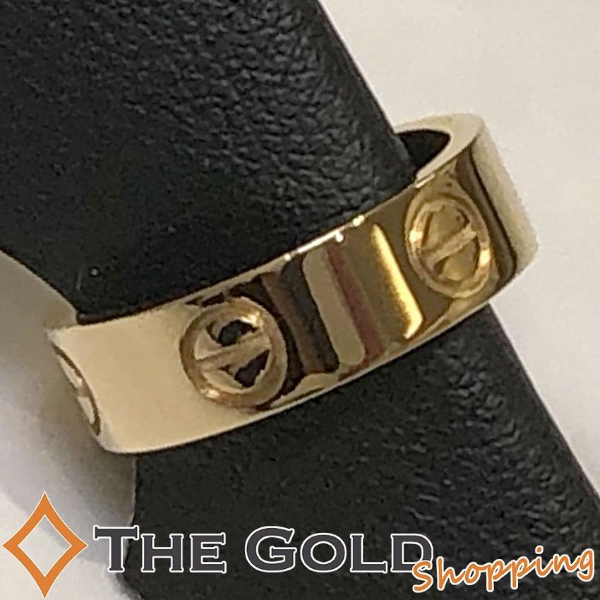 本物の 【】カルティエ ラブリング 750YG #50 仕上済 イエローゴールド Cartier [ジュエリー アクセサリー 指輪] ギフト プレゼント ビジネス ご褒美 ザ・ゴールド, キタカミマチ 68bd5600