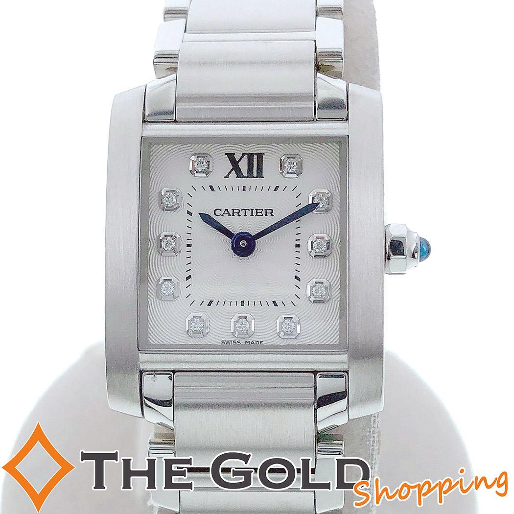 【中古】カルティエ Cartier タンクフランセーズSM 11P ダイヤインデックス 2017年10月 WE110006 時計 腕時計 レディース[女性用]