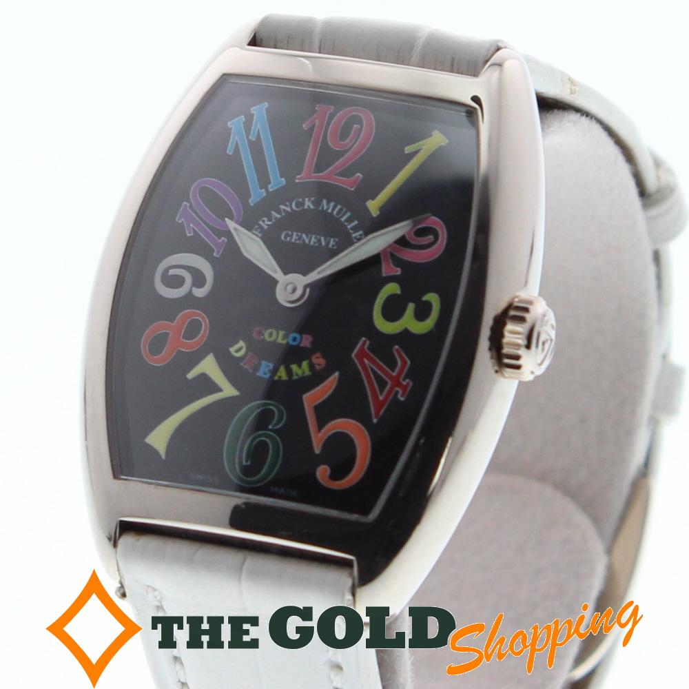 【代引き不可】 【】フランクミュラー FRANCK MULLER カラードリーム 750WG 7502QZ 腕時計 [レディース 女性用] ギフト プレゼント ビジネス ご褒美 ザ・ゴールド, ヘルシークリエーション 6f06e1a6