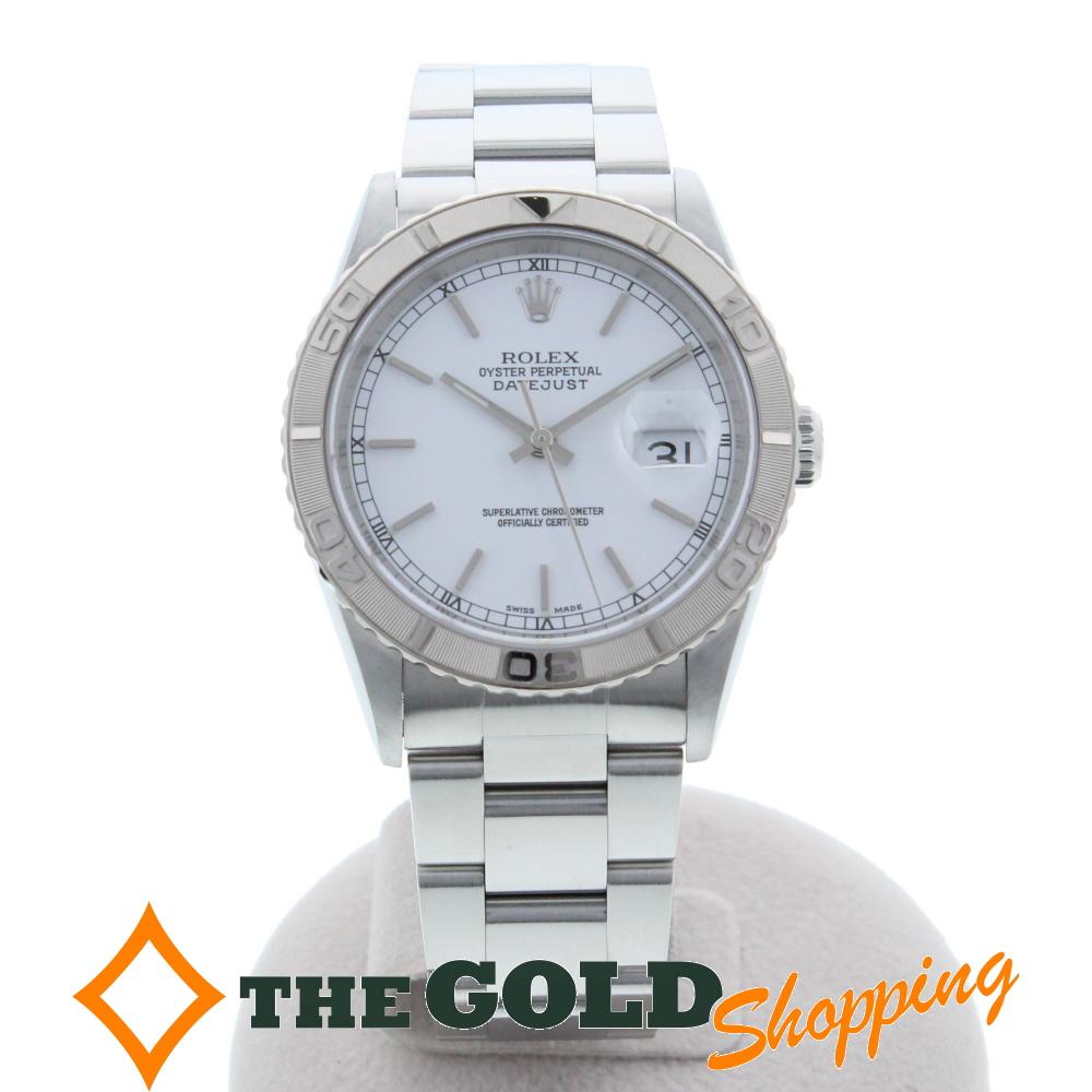 【国内正規品】 【】ロレックス ROLEX デイトジャスト サンダーバード 白文字盤 F番 16264 腕時計 [メンズ 男性用] ギフト プレゼント ビジネス ご褒美 ザ・ゴールド, SweetCharm faadc853