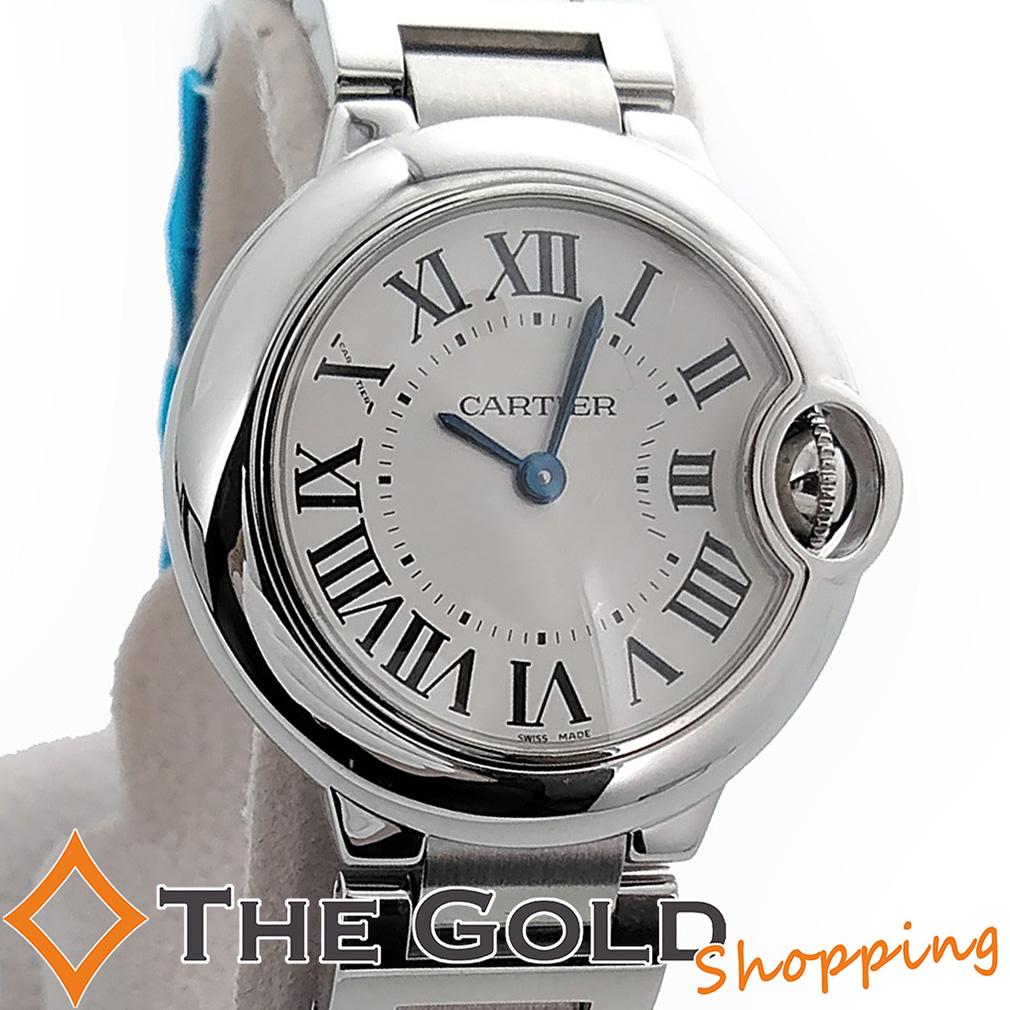 【中古】カルティエ Cartier バロンブルーSM 並行2012年10月 28mm W69010Z4 腕時計 [レディース 女性用]ギフト プレゼント ご褒美 夏のボーナス ザ・ゴールド 決算SALE■■