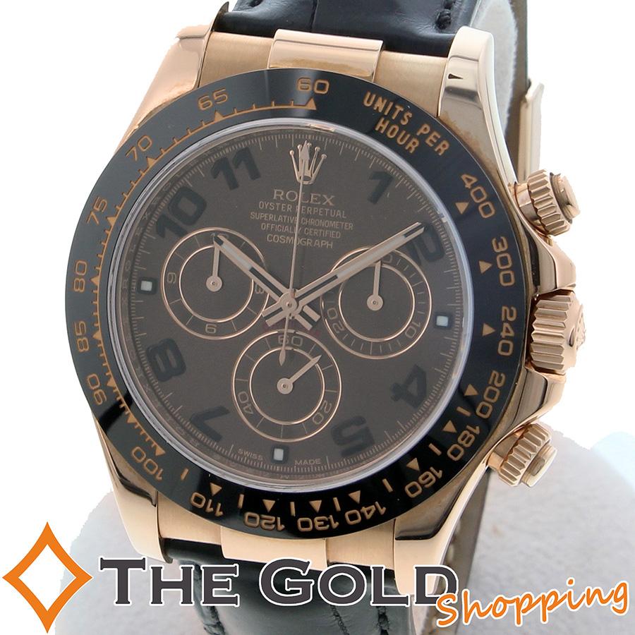 ROLEX デイトナ 116515LN ピンクゴールド 2012年7月 日本正規 レザーベルト ロレックス 時計 腕時計 メンズ[男性用] 【中古 ユーズド】ご褒美 ギフト プレゼント ビジネス