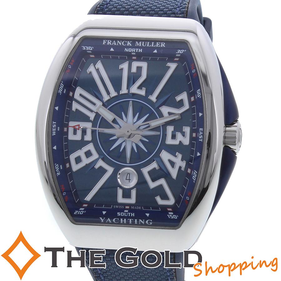 FRANCK MULLER 未使用 ヴァンガード ヨッティング 並行 ブルー 青 V45SCDT フランクミュラー 時計 腕時計 メンズ[男性用] 【中古】