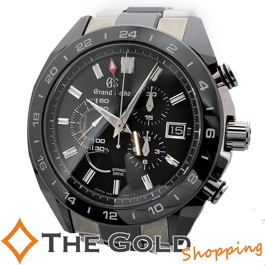 グランドセイコー スプリングドライブ クロノ 9R86-0AG0 セイコー SEIKO 時計 腕時計 メンズ[男性用] 【中古】