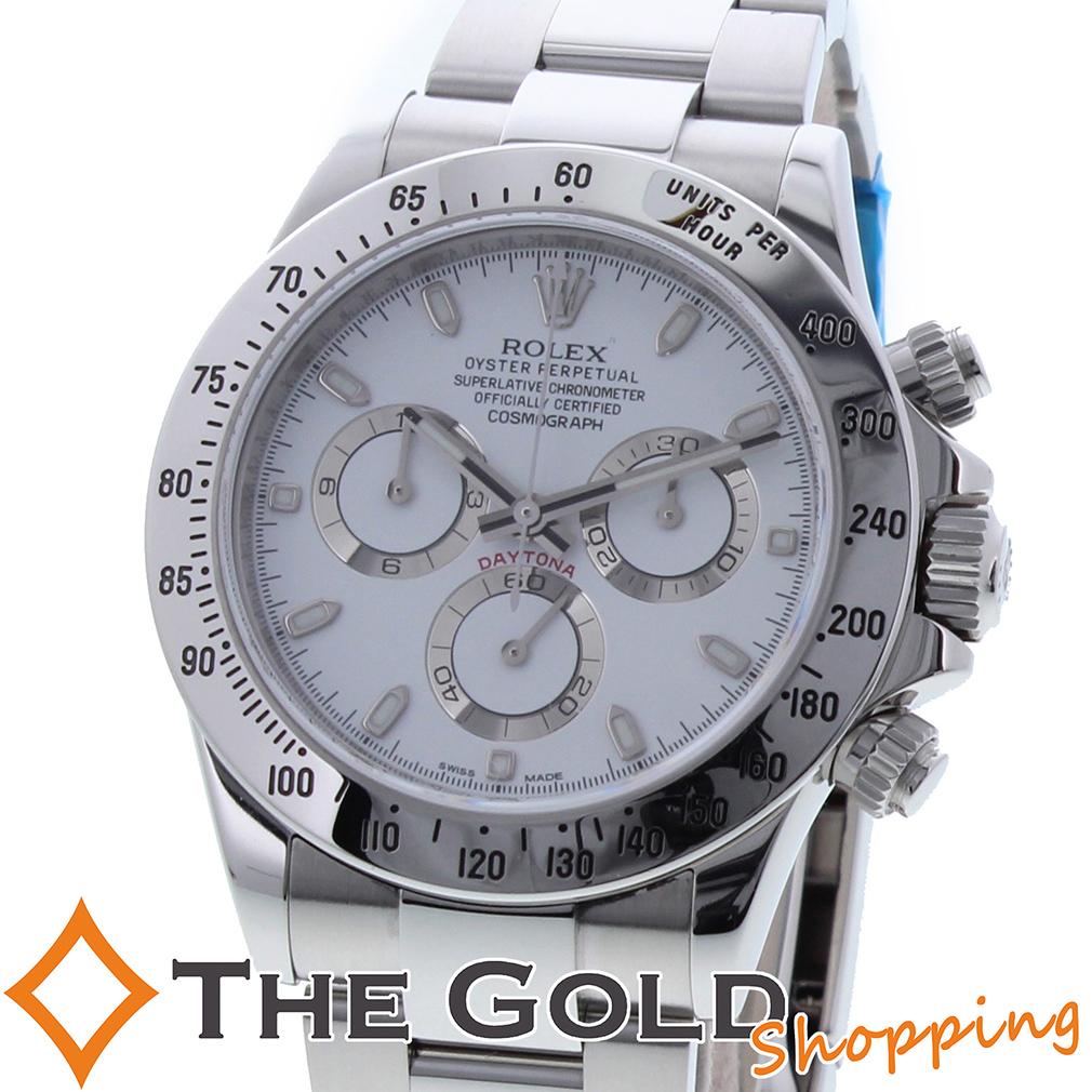 ROLEX デイトナ 116520 G番 白文字盤 オーバーホール済み フルコマ ロレックス 時計 腕時計 メンズ[男性用] 【中古】