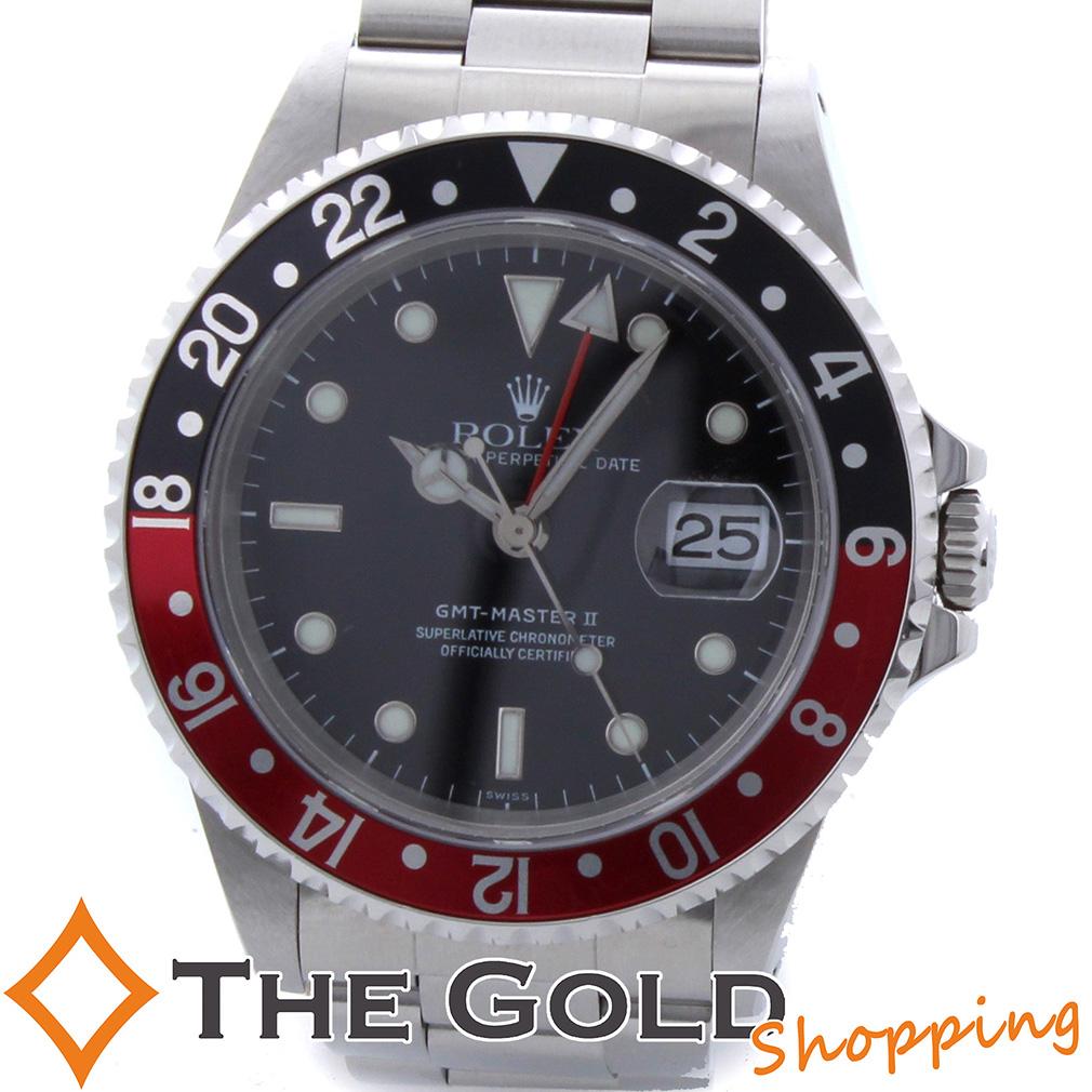 【6/4 20時からポイント2倍!】ロレックス GMTマスター2 16710 A番 サ保 黒赤 赤黒 メーカーOH済 ROLEX 時計 腕時計 メンズ[男性用] 【中古 ユーズド】