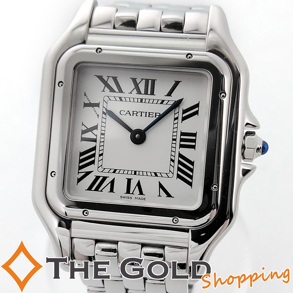 【中古】Cartier 新品同様 パンテール ドゥ カルティエ MM 2019年4月購入 WSPN0007 腕時計[レディース 女性用] ギフト プレゼント ご褒美 夏のボーナス ザ・ゴールド 決算SALE ■■