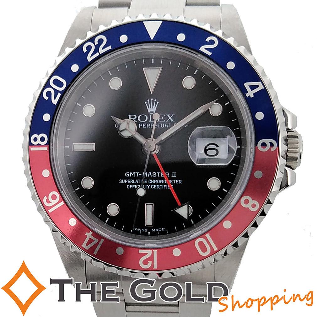 【中古】ROLEX GMTマスター2 16710 A番 2019年6月 日ロレOH済 赤青 ロレックス 腕時計 [メンズ 男性用] ギフト プレゼント ご褒美 夏のボーナス ザ・ゴールド 決算SALE
