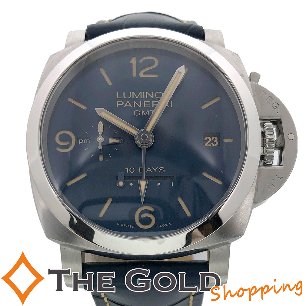【中古】パネライ PANERAI ルミノール GMT 10デイズ 2019年7月 限定250本 PAM00986 腕時計 [メンズ 男性用]ギフト プレゼント ご褒美 夏のボーナス ザ・ゴールド 決算SALE■■