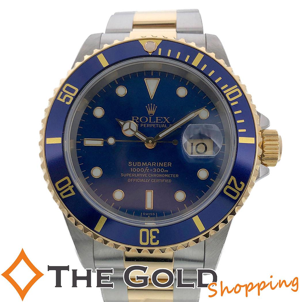 【中古】ロレックス ROLEX サブマリーナ デイト A番 正規 1999年6月 OH済 青サブ 16613 時計 腕時計 メンズ[男性用]