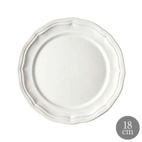 食器 激安☆超特価 白 陶器 オリジナル フレンチ 中皿 おしゃれ 恵比寿に実店舗あります MOISSON ブレッドプレート ラ LA 18%OFF ビストロ モワッソン ホワイト 18cm