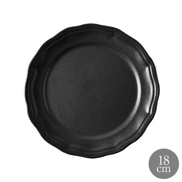 食器 黒 陶器 オリジナル フレンチ 国内正規総代理店アイテム 中皿 おしゃれ 恵比寿に実店舗あります 18cm 買収 マットブラック ビストロ モワッソン ラ MOISSON LA ブレッドプレート
